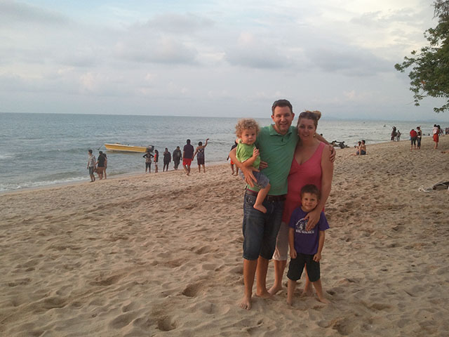 My beautiful little family on the beach in Penang