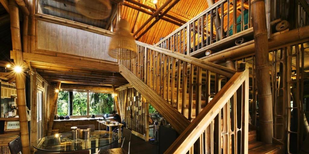 Hubud's stunning bamboo buildings.
