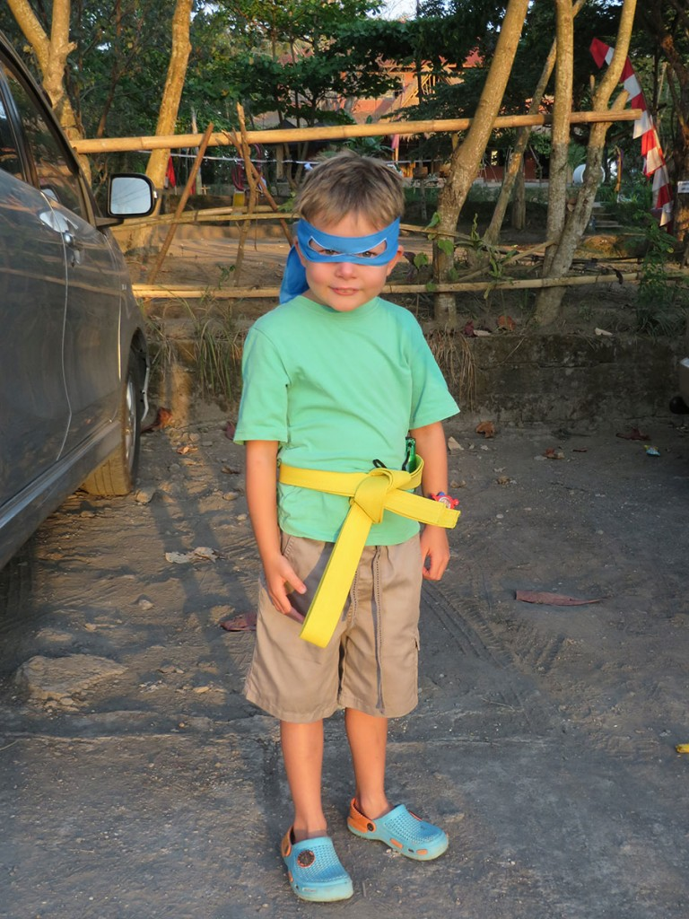Tom Dressed up for Pelangi School Halloween Party