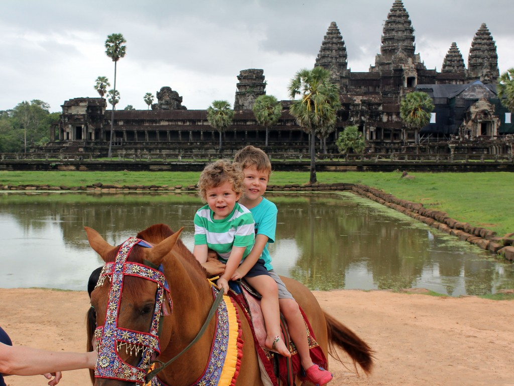 Boys-horseriding-at-Angkor-Wat