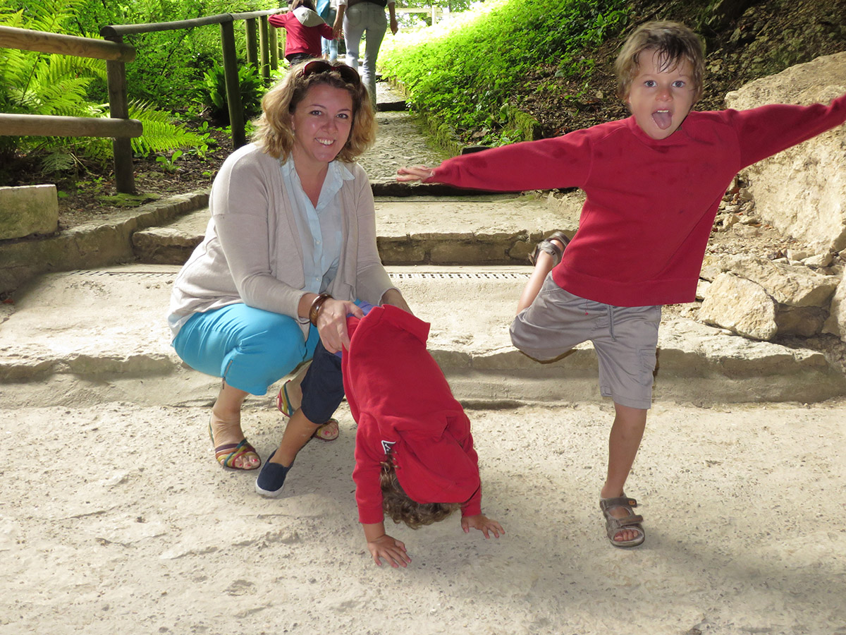 Me, Tommy and Milo outside the cave
