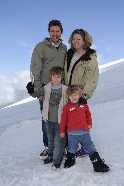 family photo in alps