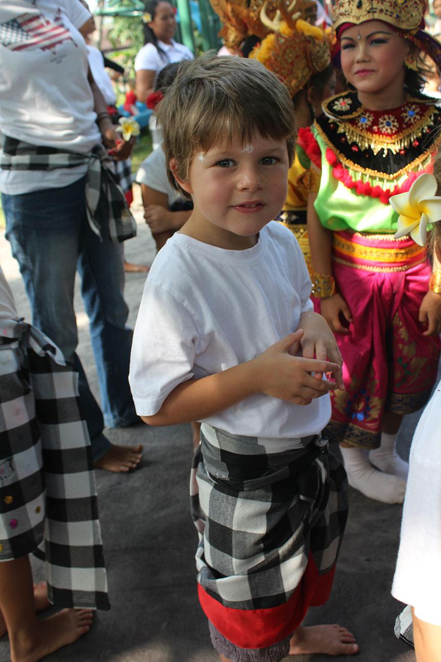 Tom -  in the Kecap Dance concert at Pelangi School